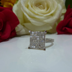 Inel aur 14k si diamante 2.53ct - Inel diamant, Culoare: Alb