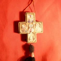 Cruciulita din lemn cu cate 4 iconite pe fiecare parte, 5, 4 x 4, 3 cm - Crucifix