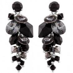 Cercei cu cristale swarovski Rivoli-Cosmic Waterfall 4, 5 cm - Cercei Swarovski