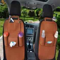 Organizator auto pentru scaun cu suporturi de pahare