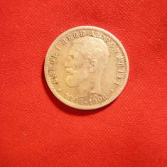 Moneda 1 Leu 1906 Carol I -Cap-Cap, argint, Romania - Moneda Romania