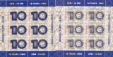 Romania 2009 , Lp 1825 , 10 Ani Moneda Euro MINISHEET + MINISHEET FOLIO AUR,MNH.