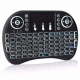 Tastatură wireless cu Touchpad , dongle usb fără fir iluminare din spate