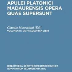 De Philosophia Libri: Apulei Platonici Madaurensis, Vol. III - Carte in engleza