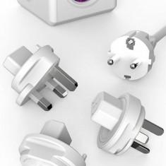 Allocacoc Priza cu prelungitor PowerCube ReWirable USB violet - Cablu si prelungitor