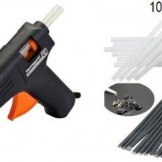 Pistol de Lipit Profesional cu Silicon + 10 bare rezerva