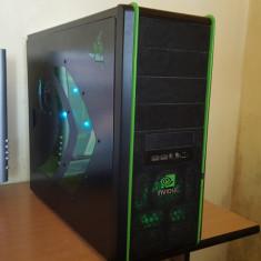 Vand Unitate PC Gaming+Monitor, Casti, Mouse, Tastatura - Sisteme desktop cu monitor, Intel Core 2 Quad