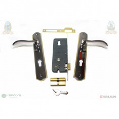 GF-0802 Broasca cu butuc si silduri L31 BN-GP (yala) - Incuietoare, maner si accesorii usa