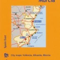 Michelin Spain: East, Valencia Murcia Map 577 - Carte in engleza