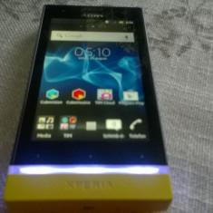 SMARTPHONE SONY XPERIA U ST25I FUNCTIONAL CU SLOT SIM DEFECT+BONUS - Telefon mobil Sony Xperia U, Alb
