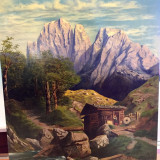 PICTURA MARE IMPRESIONANTA PEISAJ Tirol 116 x 96 cm - Tablou autor neidentificat, An: 1950, Natura, Ulei, Realism