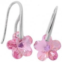 Cercei cu cristale swarovski Flower p 12 Wire - Cercei Swarovski