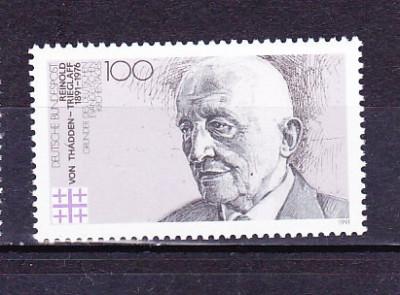 GERMANIA 1991 - ANIV. 100 ANI FONDATORUL BISERICII PROTESTANTE, timbru MNH,  R4 foto