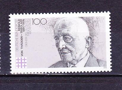 GERMANIA 1991 - ANIV. 100 ANI FONDATORUL BISERICII PROTESTANTE, timbru MNH,  R4