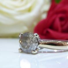 Inel logodna aur 18k si diamante 1.31ct - Inel aur alb