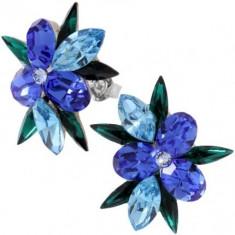 Columbine 2, 5 cm blue cu cristale swarovski - Cercei Swarovski