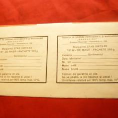 2 Etichete adezive Fabrica de grasimi hidrogenate si margarina Bragadiru