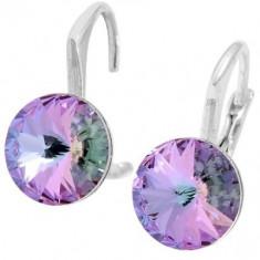 Cercei cu cristale swarovski violet Rivoli r 8 Lvbck - Cercei Swarovski