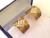 OFERTA - Cercei CLIPS vintage swarovski gama GUESS Placati cu aur 18k