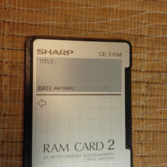 Ram Card 2 Sharp CE-210M 2kb calculator sharp - Calculator Birou