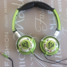 Casti SkullCandy LowRider Green-Lime, Casti Over Ear, Cu fir, Mufa 3, 5mm