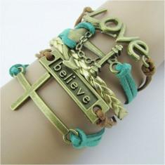 Bracelet cross LOVE the rudder romantic