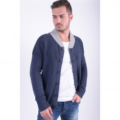 Cardigan Bumbac Only&Sons Brighton Albastru Inchis - Pulover barbati Only & Sons, Marime: L, Culoare: Bleumarin