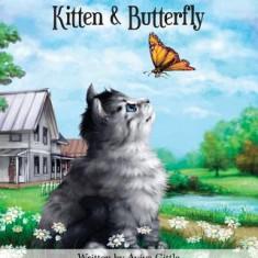 Kitten & Butterfly - Carte in engleza