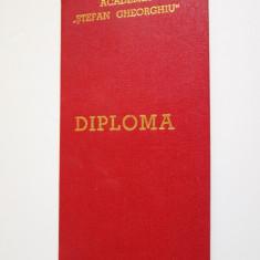 Diploma Academia,, Stefan Gheorghiu'' 1986 - Diploma/Certificat