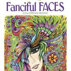 Creative Haven Fanciful Faces Coloring Book - Carte de colorat