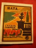 Vigneta Turistica - Hotel Taurida -Ialta URSS ,dim. 8,2x10,2 cm