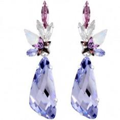 Cercei cu cristale swarovski Lindsay Wing 6 cm - Cercei Swarovski