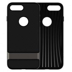 Carcasa case iPhone 7 Plus (black) - Husa Telefon, Negru