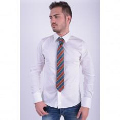 Cravata Matase Selected Southbank Stripe Verde - Papion Barbati