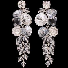 Cercei cu cristale swarovski Bunched Margaret Waterfall 6 cm - Cercei Swarovski