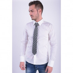 Cravata Matase Selected Southbank Negru Check Gri - Papion Barbati