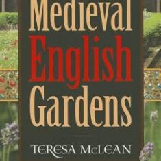 Medieval English Gardens - Carte in engleza