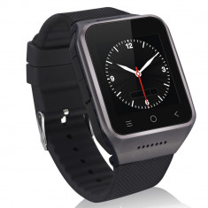 Smartwatch 3G, ZGPAX S8, Android 4.4, smartwatch DIGI, WIFI 3G, Aluminiu, Negru, Android Wear, Apple Watch