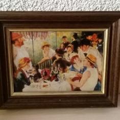 LITOGRAFIE REPLICA DUPA RENOIR MICUL DEJUN - Reproducere, Pierre-Auguste Renoir, Scene gen