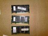 Lot 3 x memorii laptop ddr 1 de 256 m