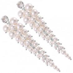 Cercei mireasa cu perle Descending Pearl Waterfall 8 cm