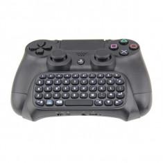 Tastatura chatpad Dobe wireless bluetooth compatibila cu controllerul pentru PlayStation PS4 / SLIM / PRO, negru, Kit accesorii