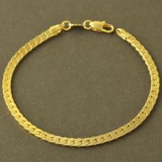 Bratara barbati placata cu aur 14k model zale sarpe - Bratara placate cu aur pandora, Femei