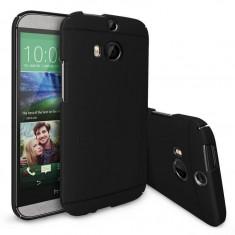 Husa Protectie Spate Ringke Slim neagra plus folie protectie pentru HTC One M8 - Husa Telefon Ringke, Plastic, Carcasa