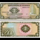 Nicaragua 1972 - 2 cordobas UNC - bancnota america