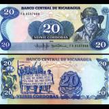 Nicaragua 1985 - 20 cordobas UNC - bancnota america
