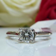 Inel logodna platina si diamante 0.49ct - Inel platina