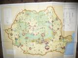 Harta Economica a RSR 1966 , dim.= 80x 60 cm