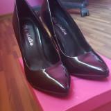 Vand pantofi stiletto - Pantof dama, Culoare: Negru, Marime: 38, Cu toc
