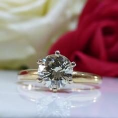 Inel logodna aur 14k si diamante 0.65ct - Inel de logodna